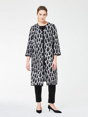 Printed gazar duster coat