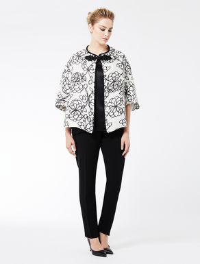 Printed silk gazar jacket