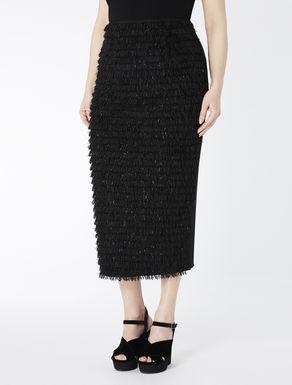 Tube skirt with fringe