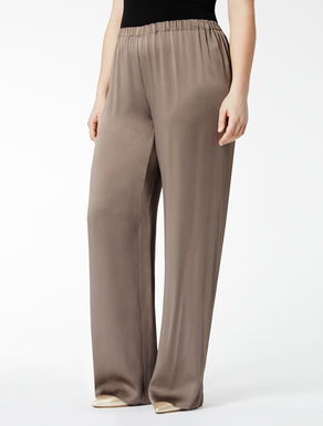 Loose-fit trousers in shiny frisottino