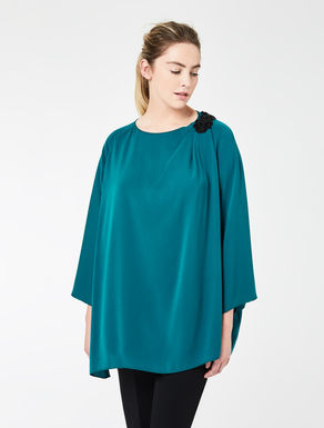 Draped tunic with embroidery
