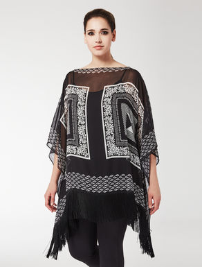 Silk georgette shirt tunic