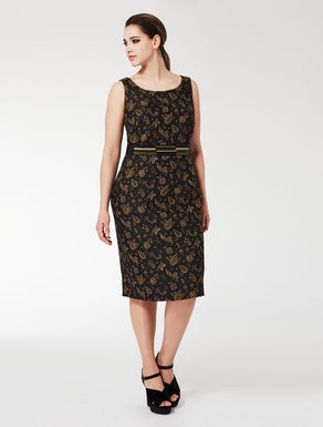 Jacquard tube dress
