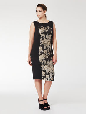 Tube dress with jacquard insert