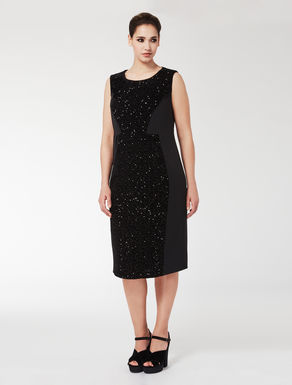 Sequinned tube dress