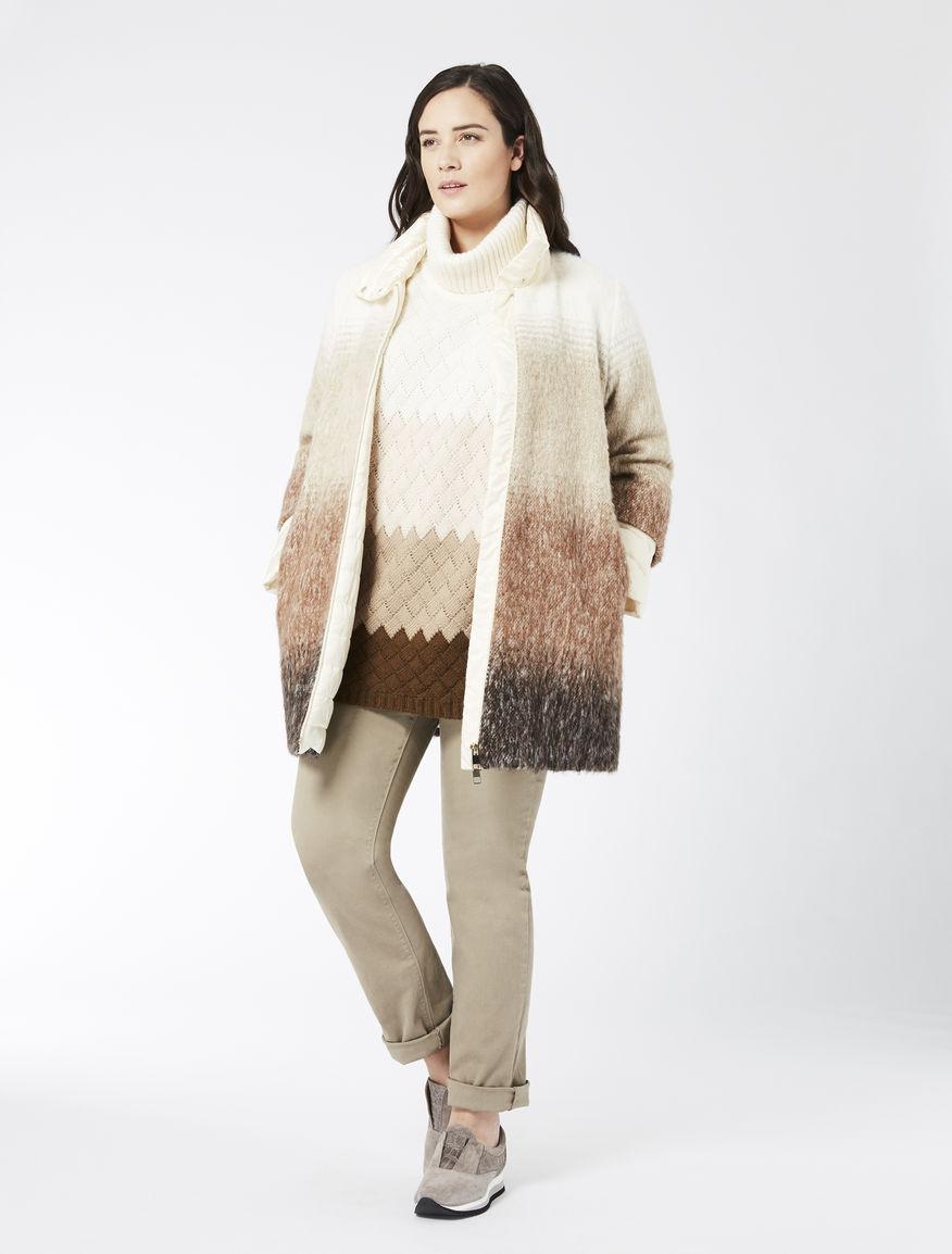 Ombré wool blend jacket