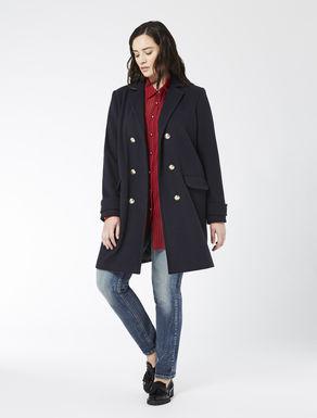 Coat in wool blend drape
