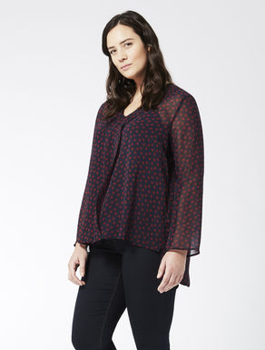 Printed georgette blouse with flounce