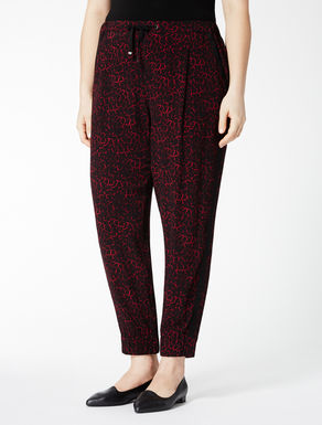 Jogging trousers in floaty viscose