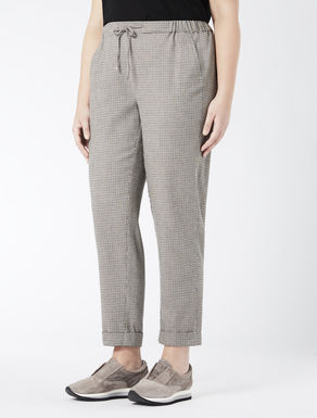 Polyviscose and wool trousers