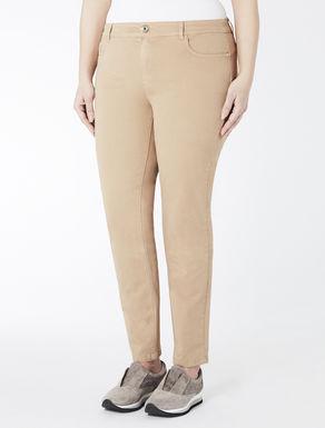 Cotton satin Wonder-fit trousers