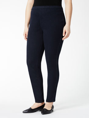 Super-stretch dark denim leggings