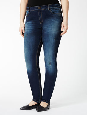 Stretch Wonder-fit denim trousers