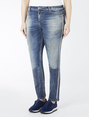 Slim-fit jeans in stretch denim felt