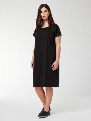 Chalk-stripe dress in floaty fabric