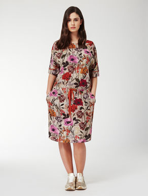 Floaty printed viscose dress
