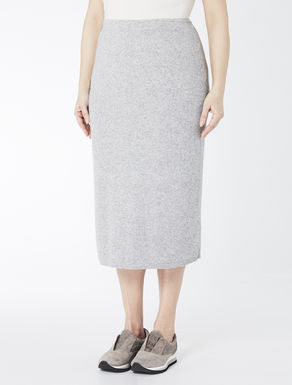 Cashmere blend ribbed skirt
