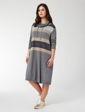 Lurex and cashmere blend dress