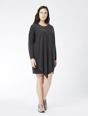 Wool blend asymmetrical dress