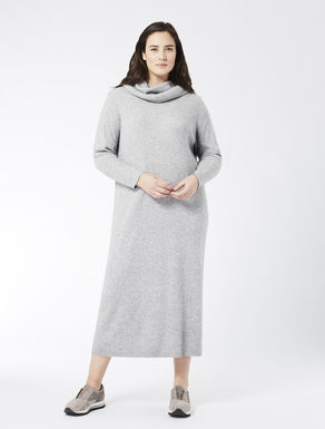 Long cashmere blend dress