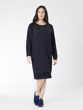 Fleece dress with crystals