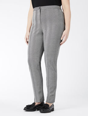 High-waisted jacquard jersey trousers