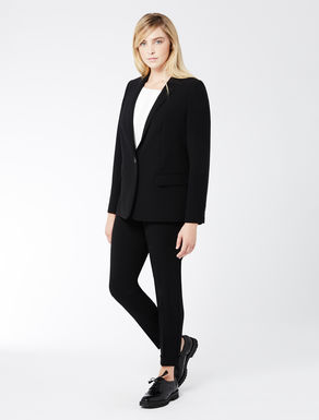 Triacetate jacket with one button