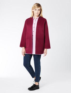 Reversible coat in double wool