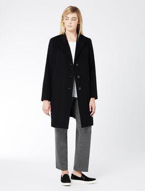 Coat in pure wool drape