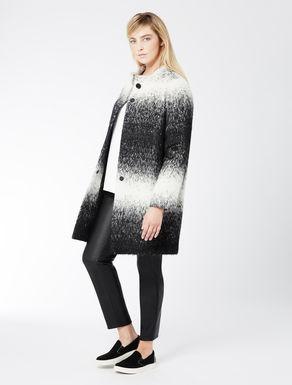 Faded jacquard coat