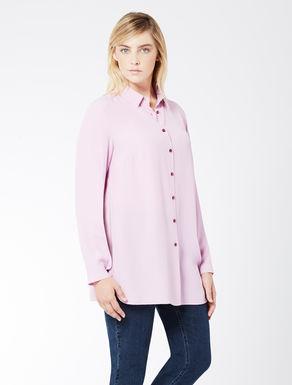 Long crêpe de chine shirt
