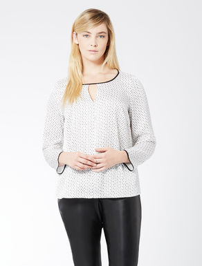 Bluse aus bedrucktem Twill
