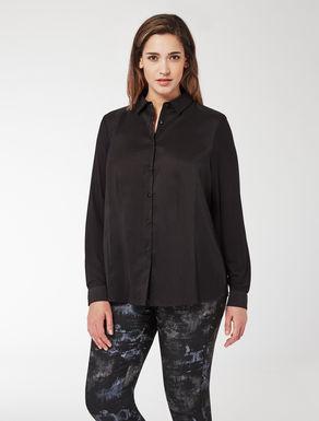 Jersey and poplin shirt