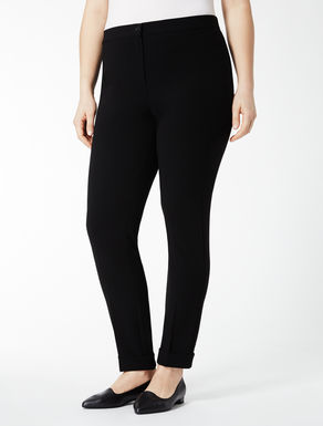 Triacetate trousers with turn-ups