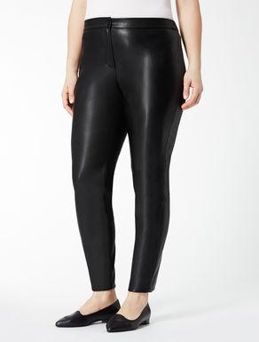Imitation leather leggings