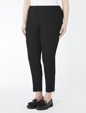 Viscose and stretch wool trousers