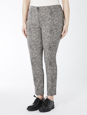 Yarn-dyed cotton blend trousers