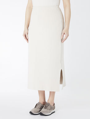 Long compact knit skirt