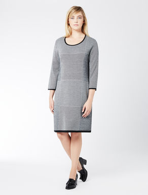Dress in jacquard wool blend