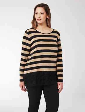 Viscose and wool blend jumper