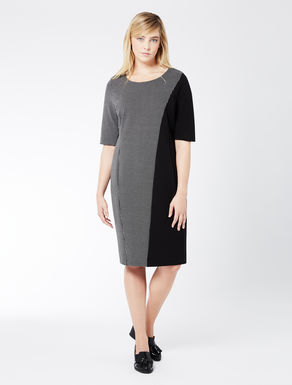 Jersey dress with inserts