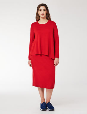 Compact stretch jersey dress