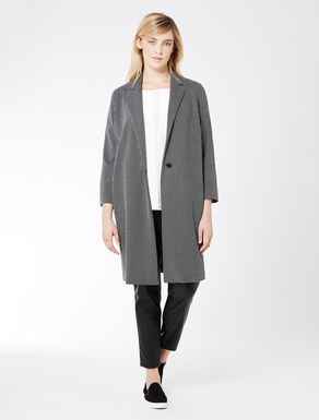 Long jacquard jersey jacket