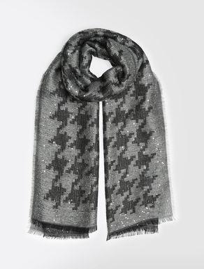 Pailletten-Schal aus Modal und Mohair