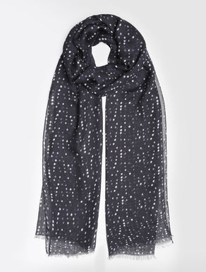 Printed modal and cashmere stole