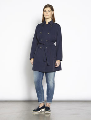 Waterproof twill trench coat