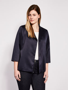 Stretch satin jacket