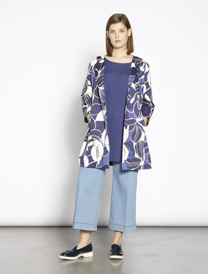 Printed satin duster coat