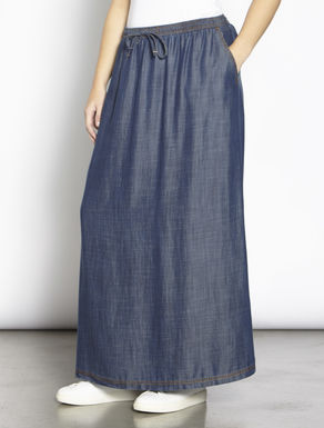 Long lightweight tencel skirt