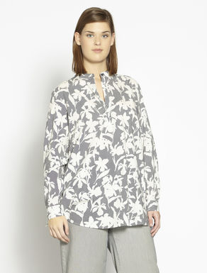 Printed cotton muslin tunic